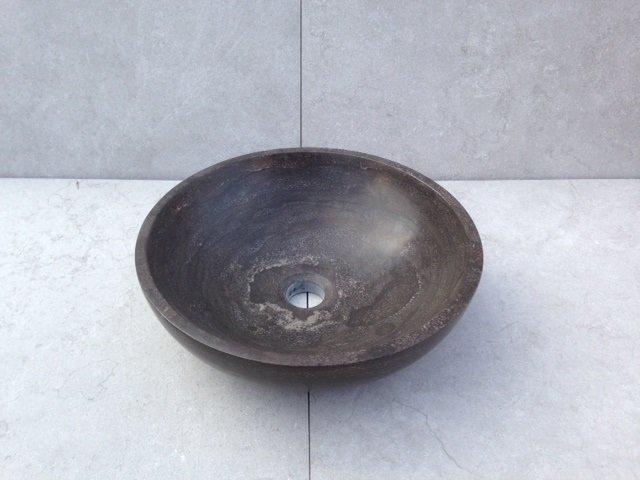 Natuurstenen Waskom rond 38x38