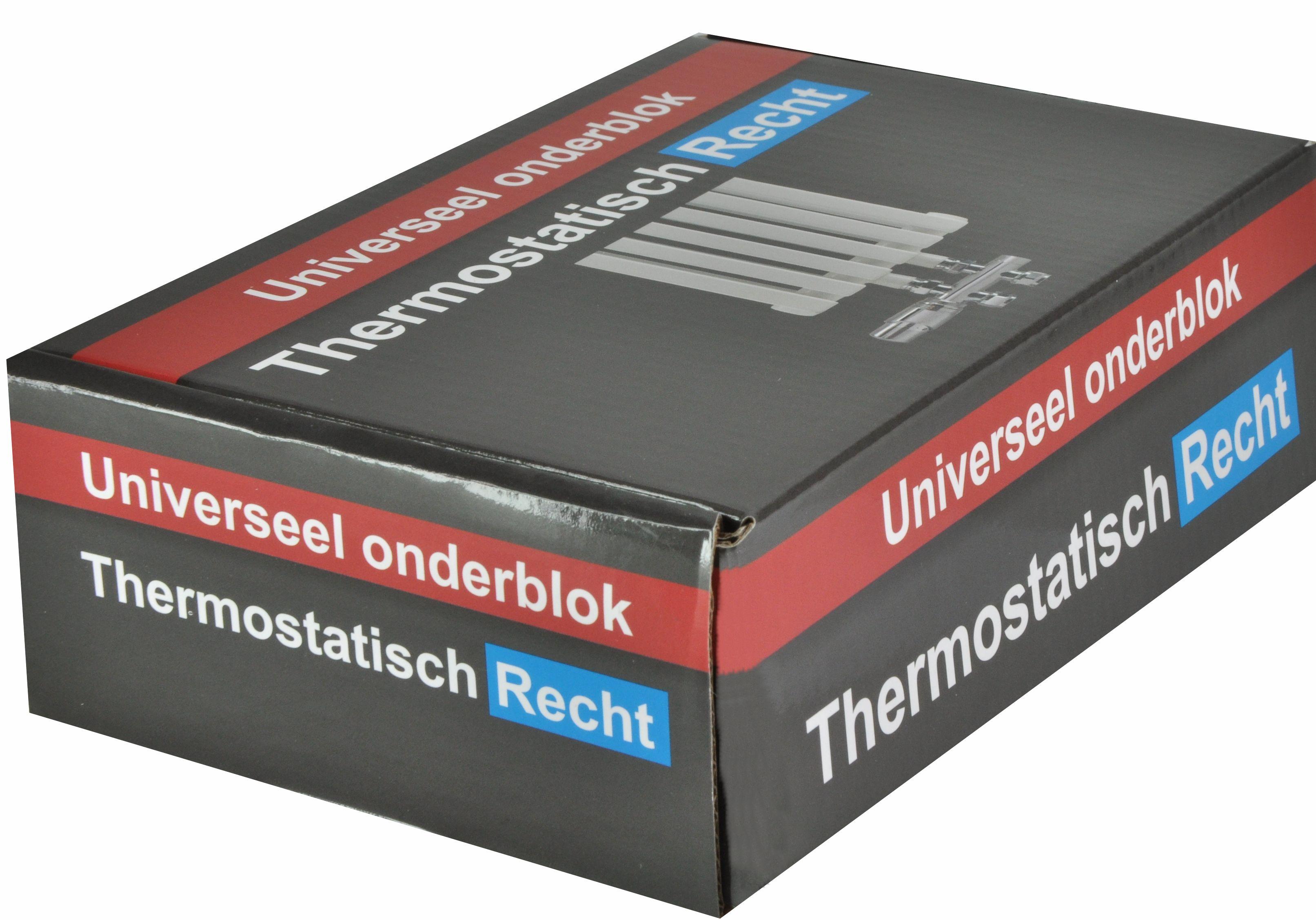 Radiatoraansluitset thermostatisch Recht middenaansluiting