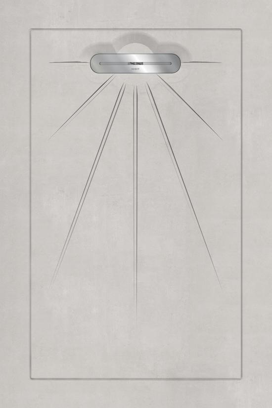 VTwonen Mold douchetegel 90x135 Cement