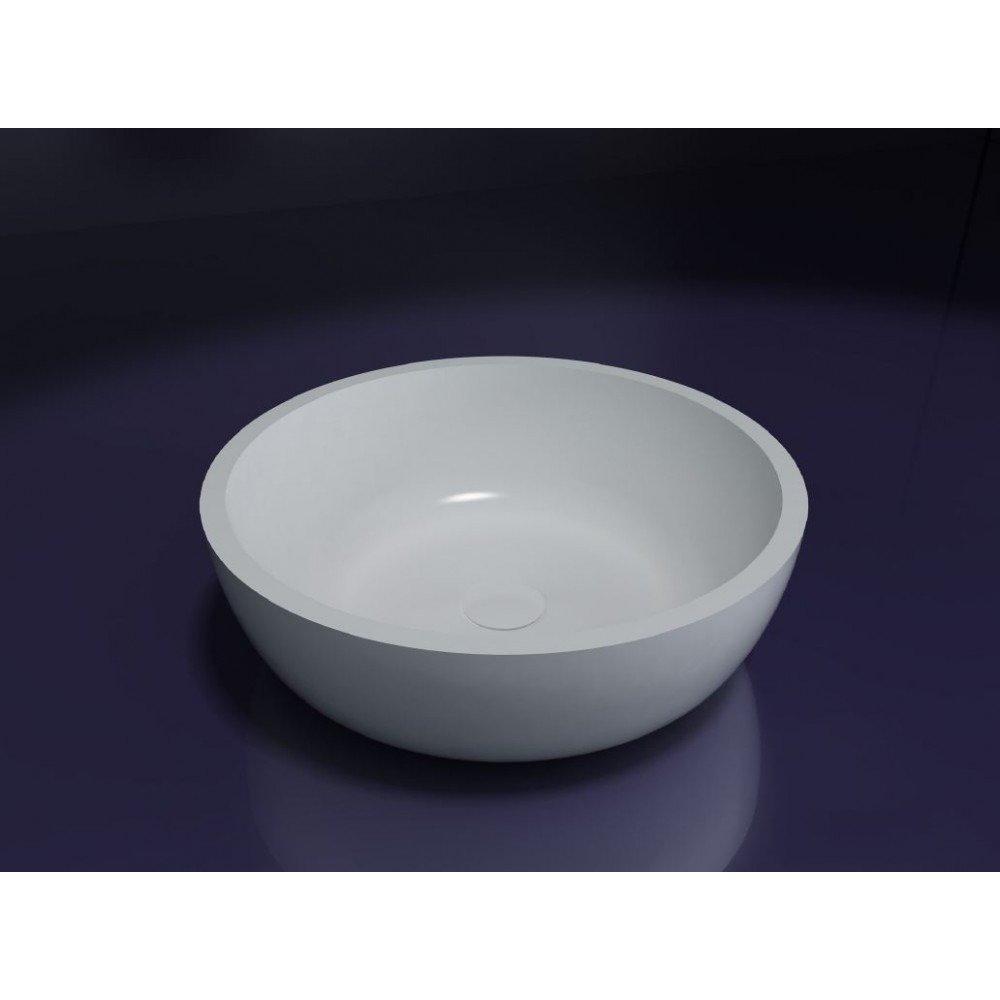Best design New Stone waskom 42cm solid surface mat wit
