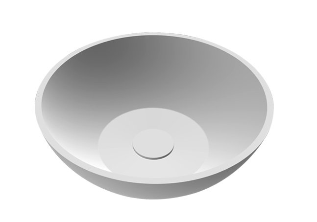 Best design Just Solid opbouw waskom Rondy 38cm glanzend wit