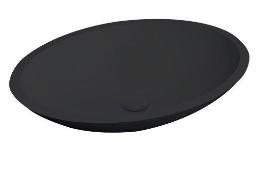 Best Design Solid Surface waskom Epona 52cm mat zwart