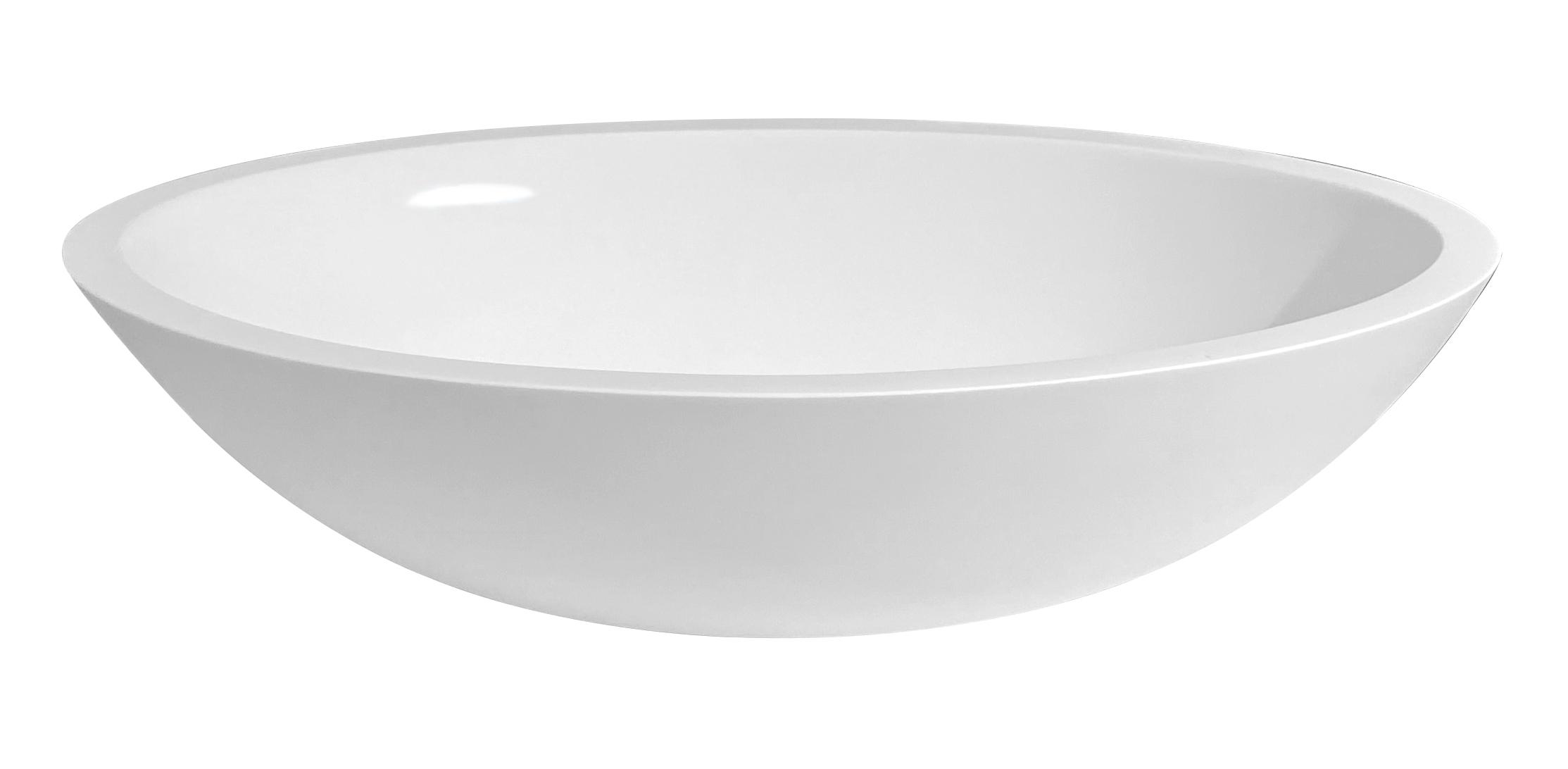 Best Design Solid Surface waskom Epona 52cm glanzend wit