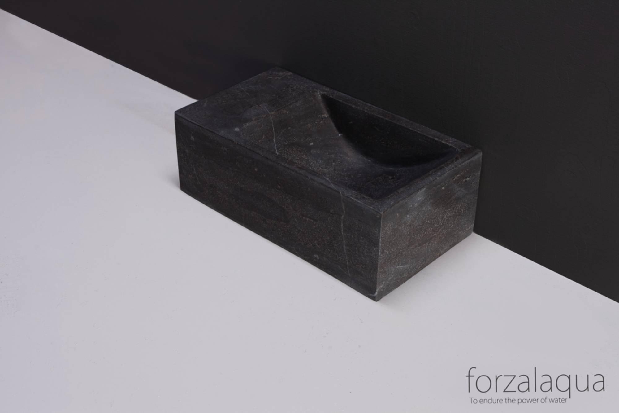 Forzalaqua Venetia XS fontein 29x16cm links Hardsteen gezoet