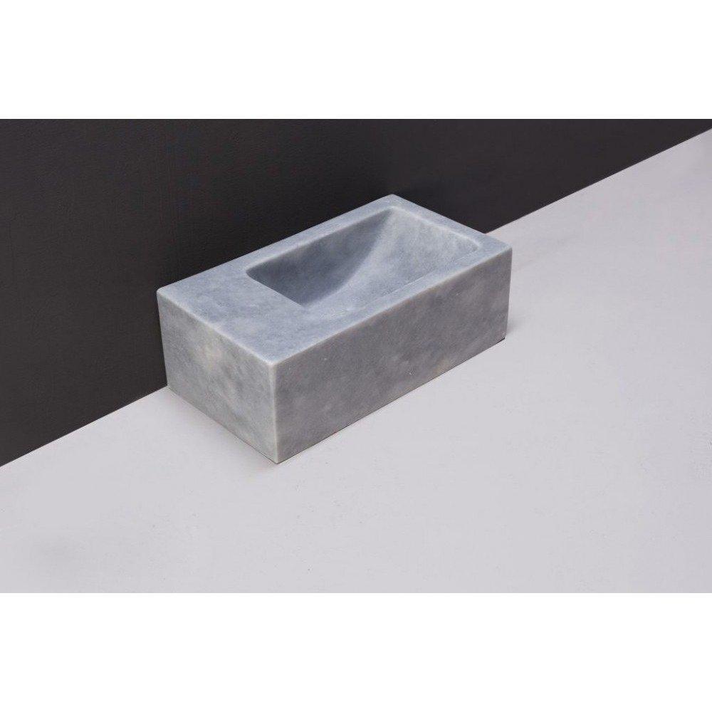 Forzalaqua Venetia XS fontein 29x16x10 Marmer gezoet blauw wit
