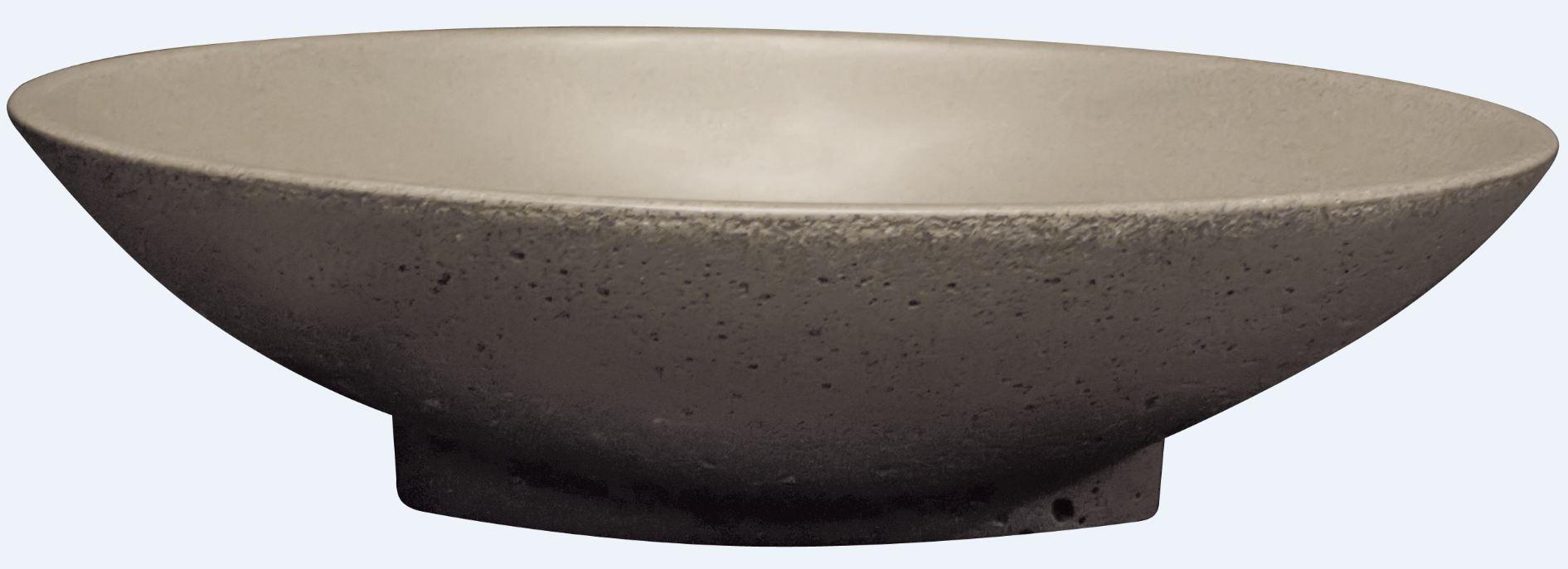 Best Design Aquastone Elisse opbouw waskom 52cm Lava