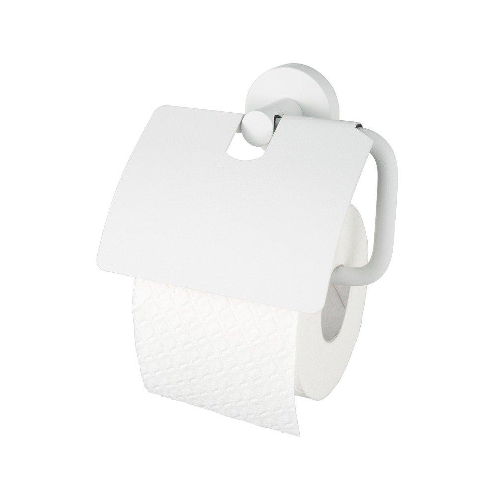 Haceka Kosmos Toiletrolhouder met klep mat wit