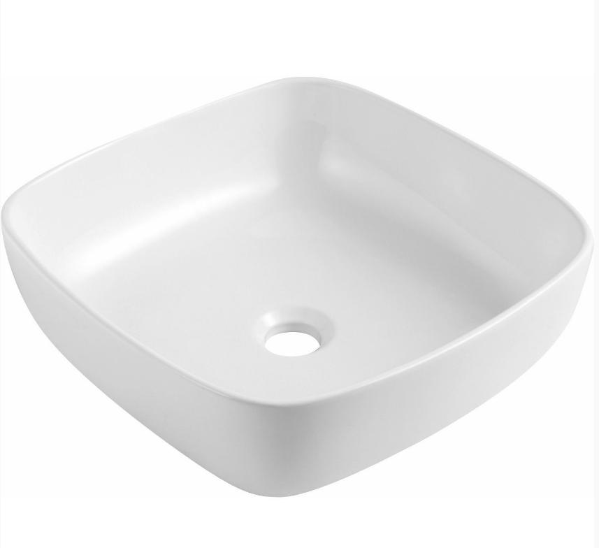 Neuer opbouw wastafel anubis porselein 40.5x14cm wit