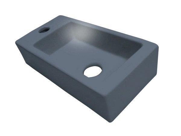 Best Design Fontein Mini-Block Links 38x18x9cm antraciet grijs