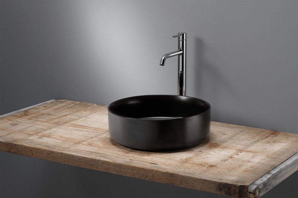 Neuer Legato opbouw waskom zonder overloop 35.5x35,5cm mat zwart