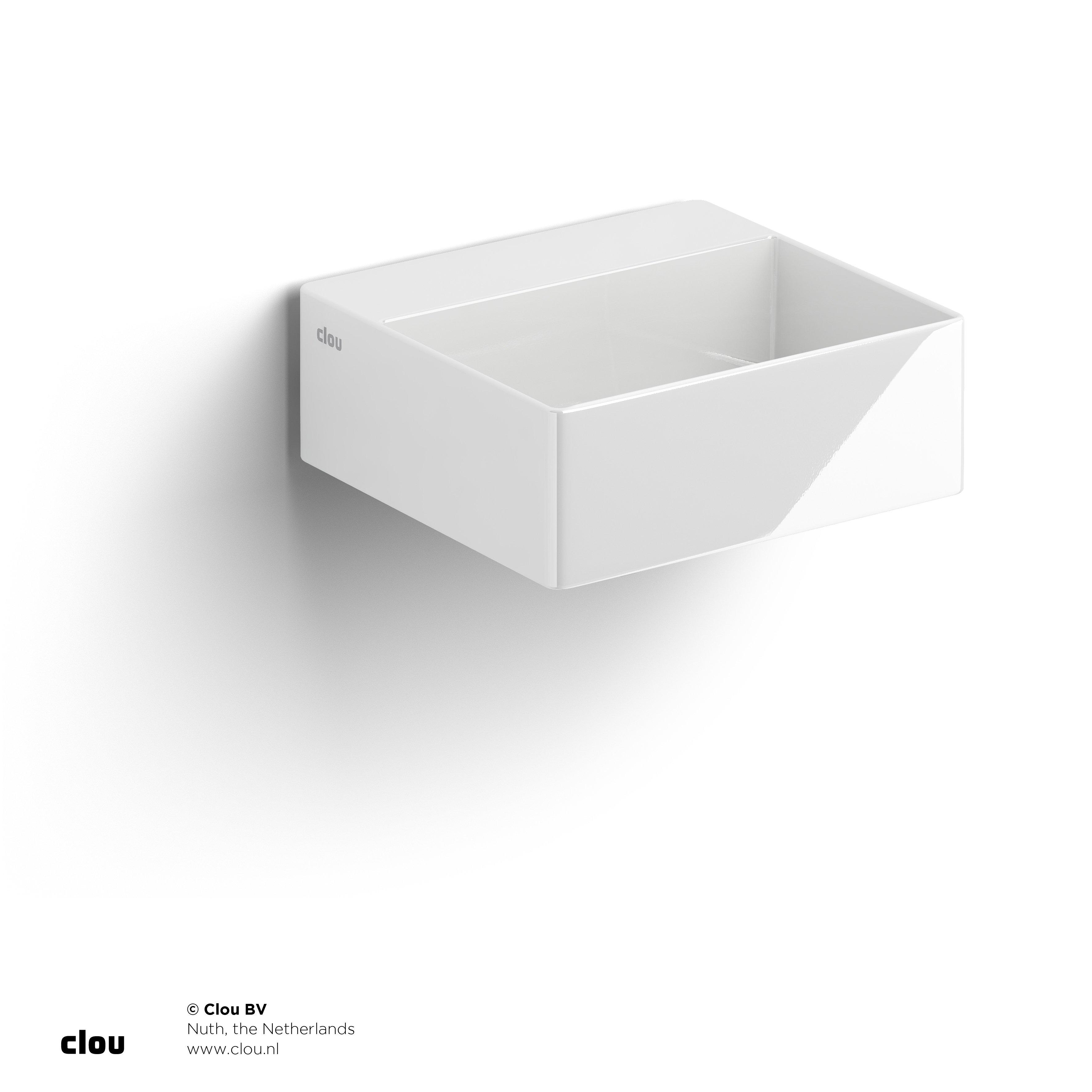 Clou New Flush 1 fontein met voorbewerkt kraangat, wit keramiek