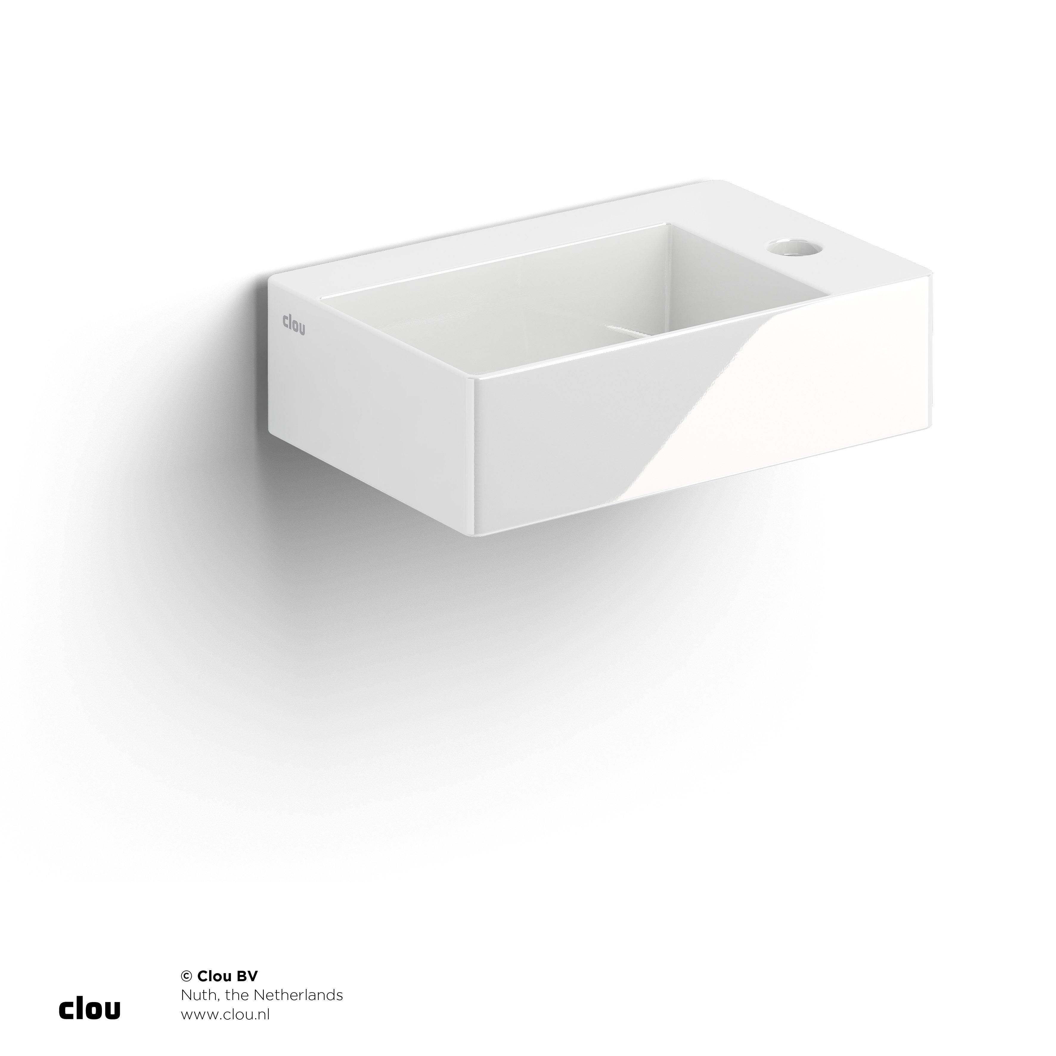Productafbeelding van Clou New Flush 2 fontein incl. plug met kraangat wit keramiek CL/03.03420.01