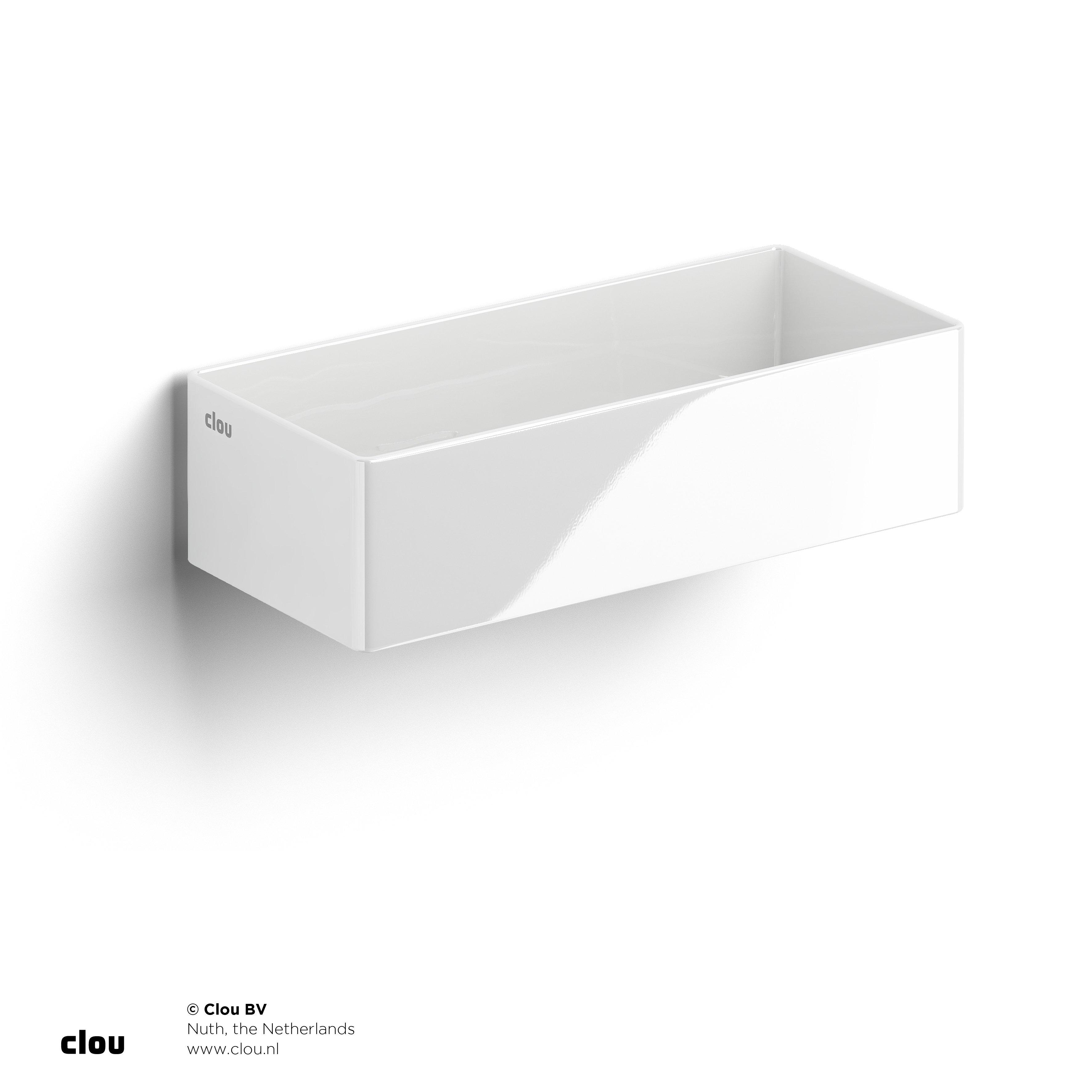 Clou New Flush 3.1 fontein zonder kranenbank, wit keramiek