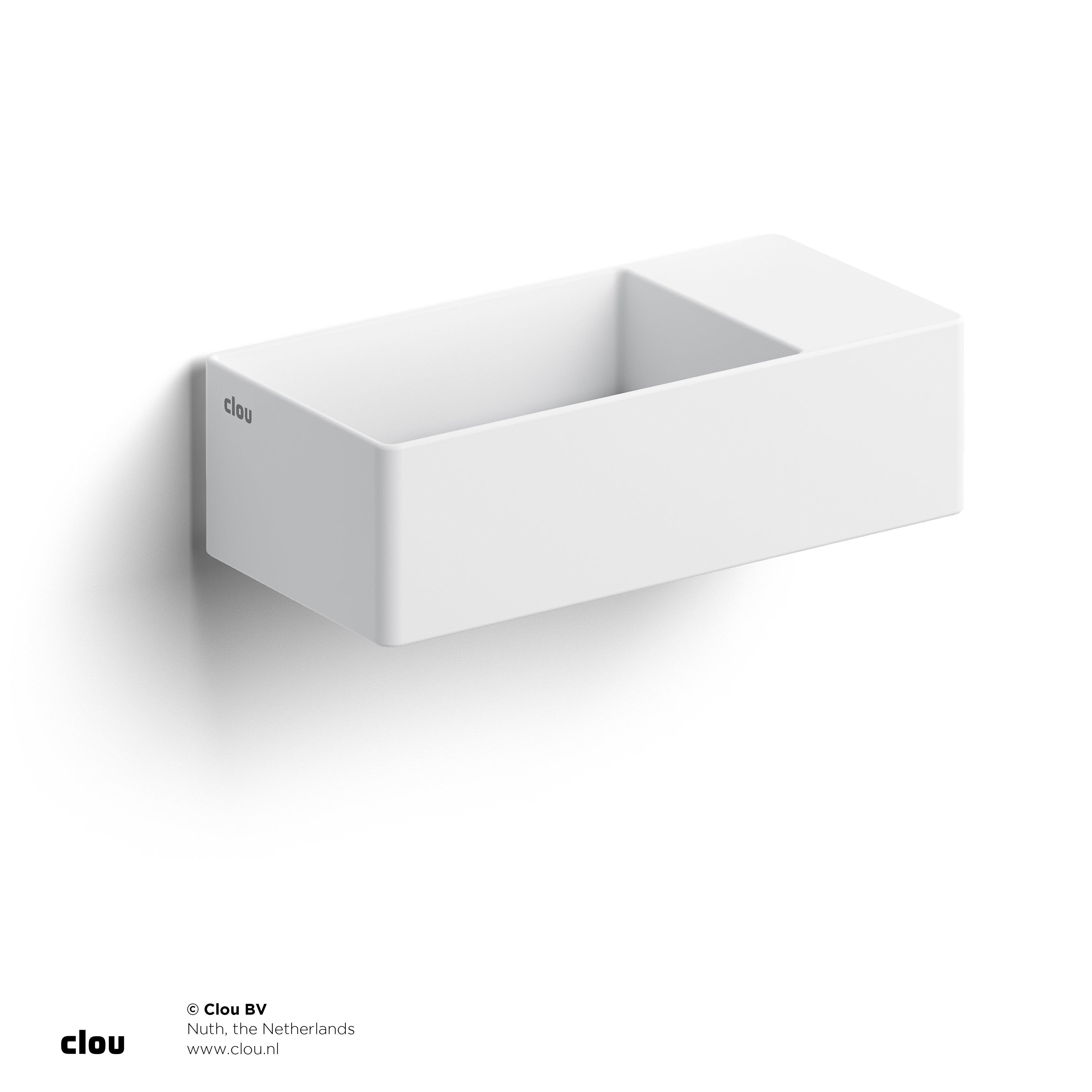 Clou New Flush 3 met voorbewerkt kraangat, aluite, rechts