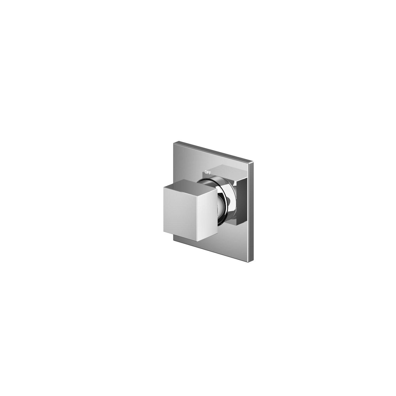 Hotbath Bloke Q010 inbouw stopkraan geborsteld nikkel