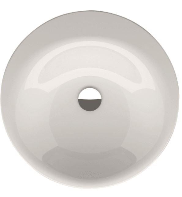 Bette Lux Couture ronde inbouw wastafel zonder kraangat 50cm wit