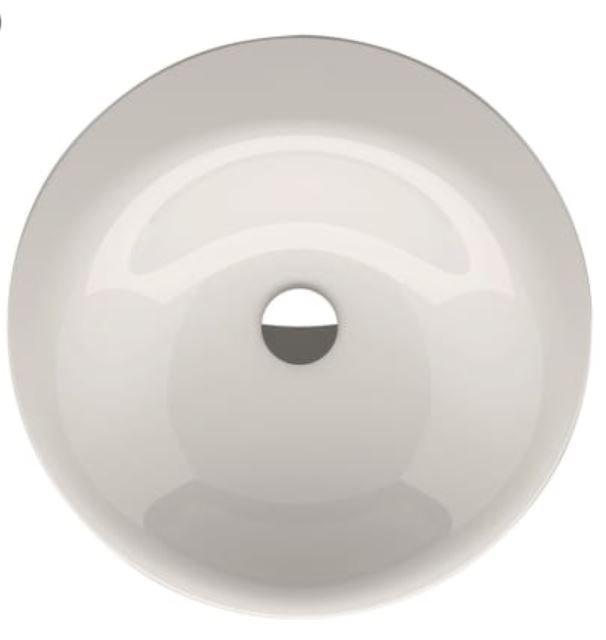 Bette Lux Oval ronde inbouw wastafel zonder kraangat 50cm wit