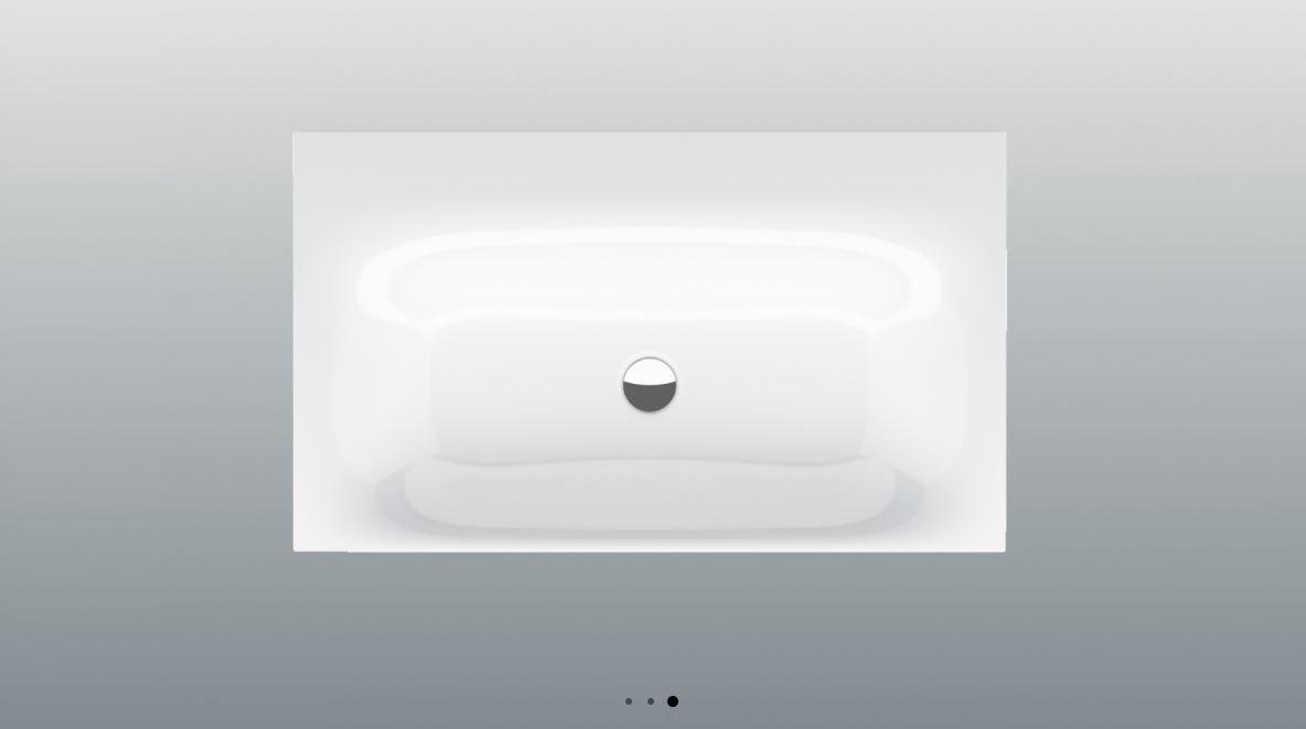 Bette Lux inbouw wastafel met kraangat 60x49.5cm wit