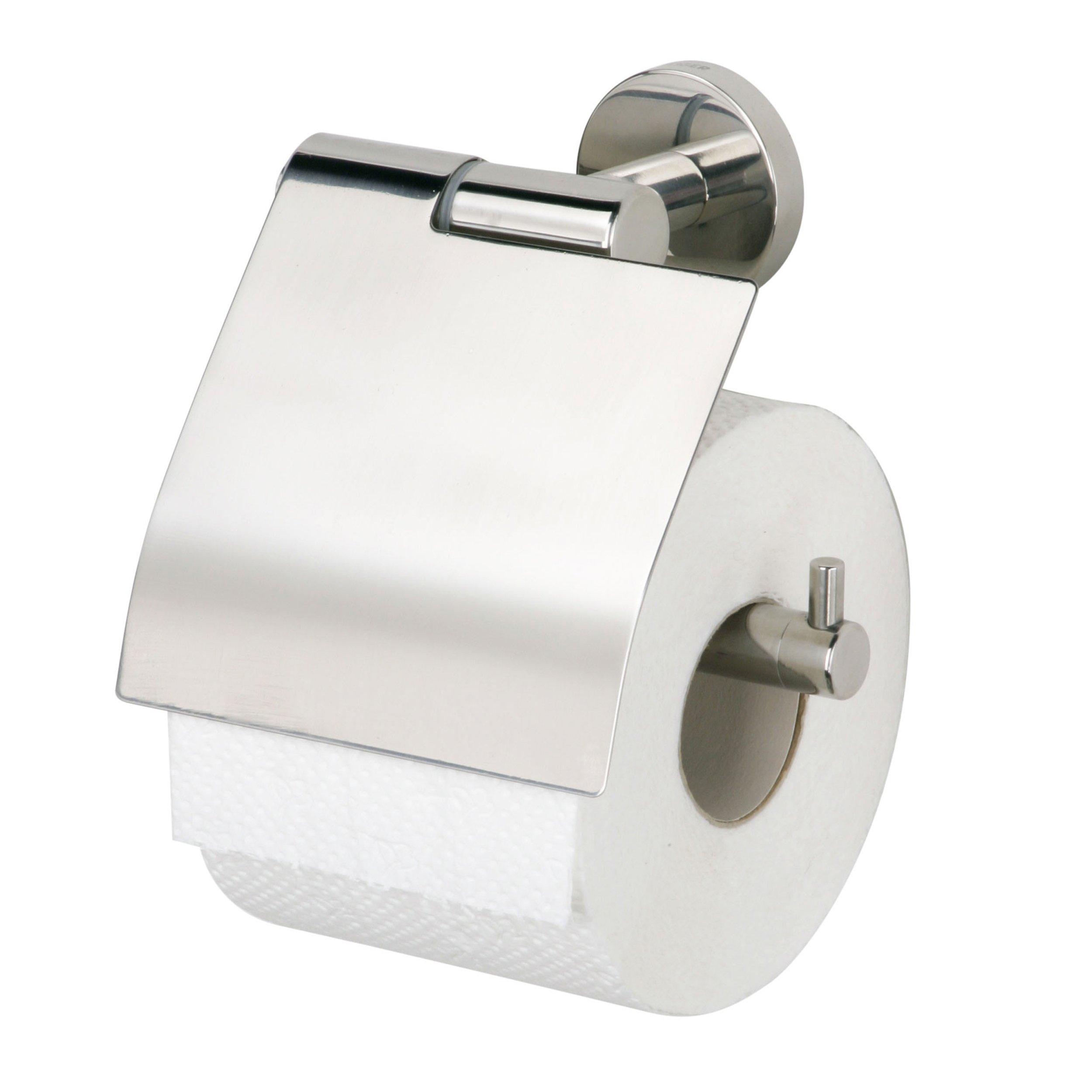 Tiger Boston toiletrolhouder inclusief klep geborsteld RVS