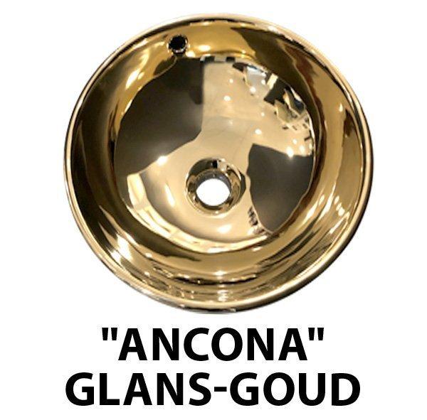 Productafbeelding van Best Design Opbouw-waskom Ancona Glans-GoudØ=38cm H=16cm
