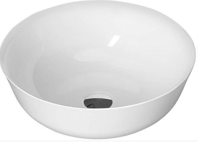 Sapho Singa opbouw waskom diameter 41.5 cm wit