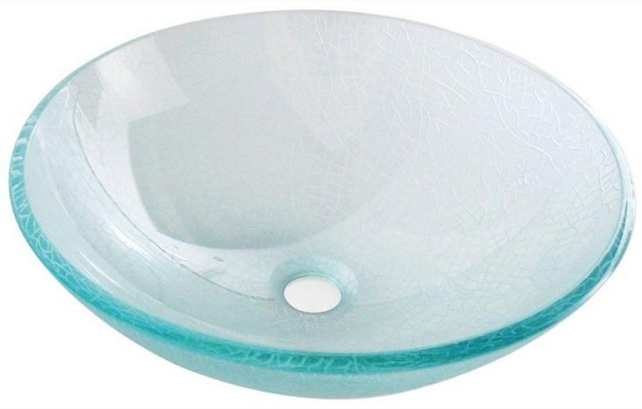 Sapho Ice glas waskom diameter 42 cm transparant