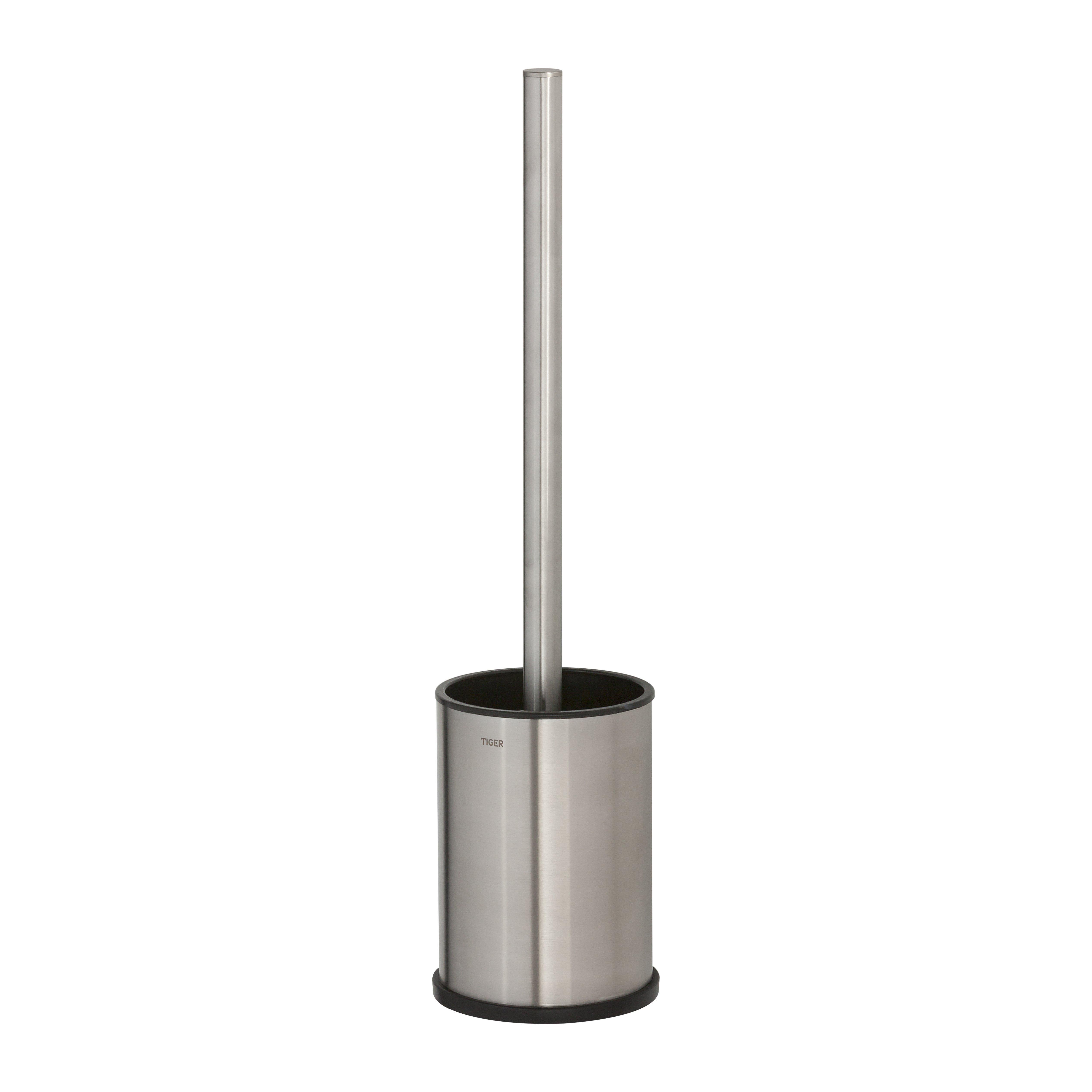 Tiger Colar vrijstaande toiletborstelgarnituur 9.3 x 38.4 cm geborsteld RVS