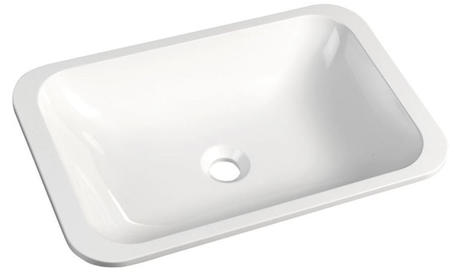 Sapho japura opbouw waskom 55x36 cm wit