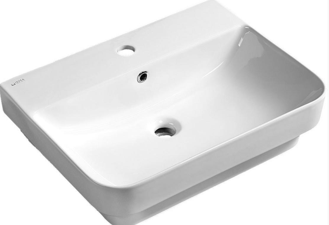Sapho sott aqua opbouw wastafel 48x43 cm wit