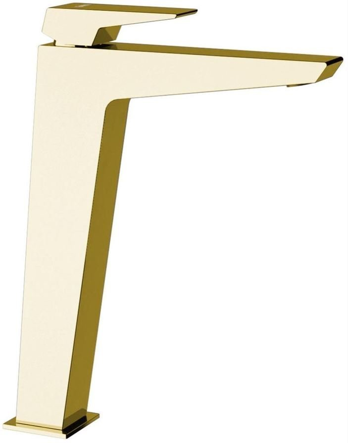 Sapho Morada wastafelmengkraan chroom zonder pop-up waste 28 cm goud