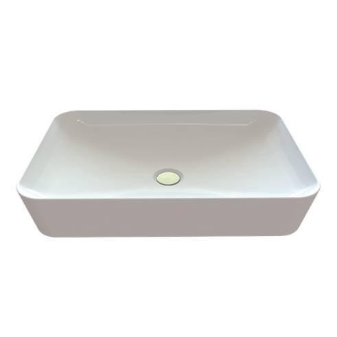 Creavit Aloni keramische wastafel 60x40 cm wit