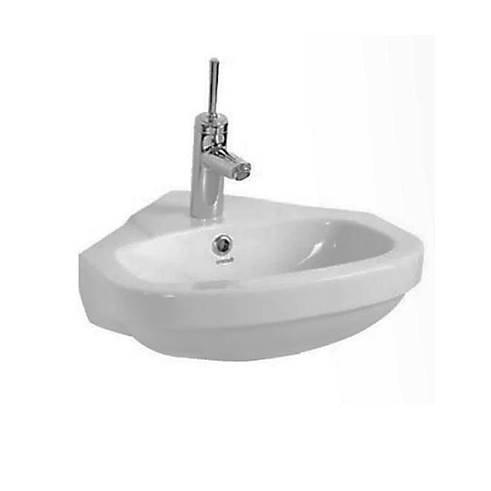 Creavit Aloni hoek fontein keramische 45x45 cm wit