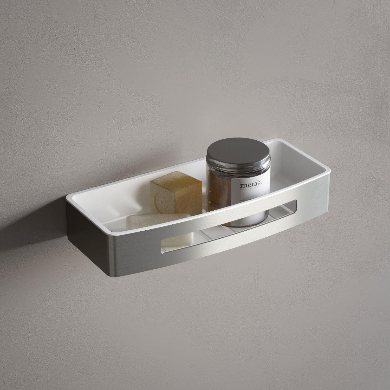 Hotbath Archie ARA18 douchekorf recht met kunststof inzet RVS 316