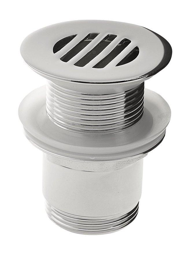 Niet-afsluitbare wastafelplug met rooster, (H) 25-50mm, chroom