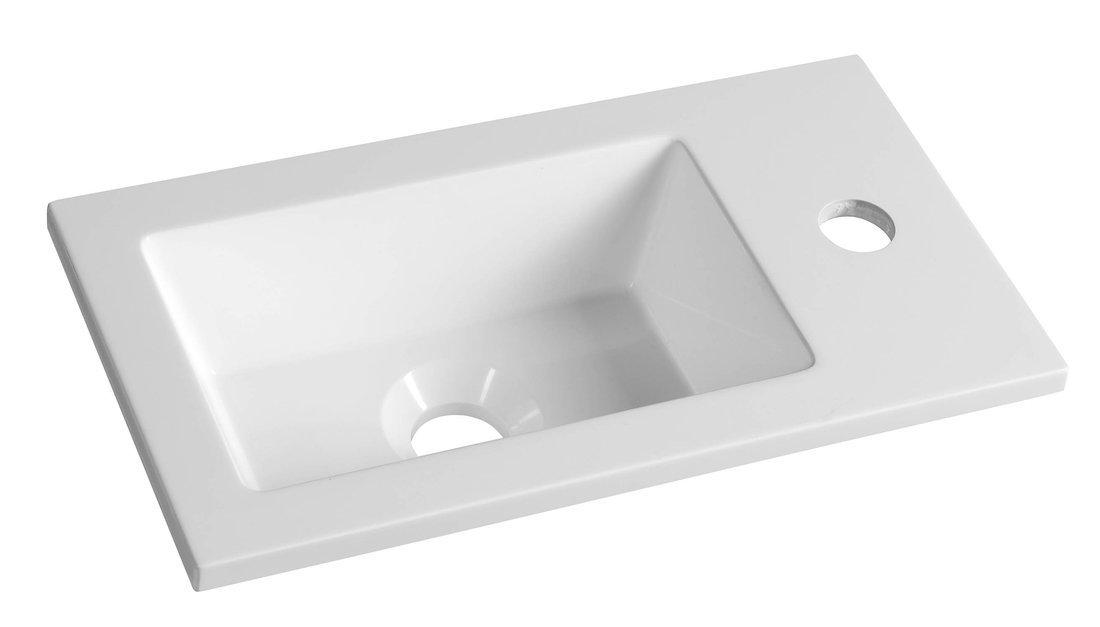 Productafbeelding van Gegoten marmeren wastafel 40x22cm, wit
