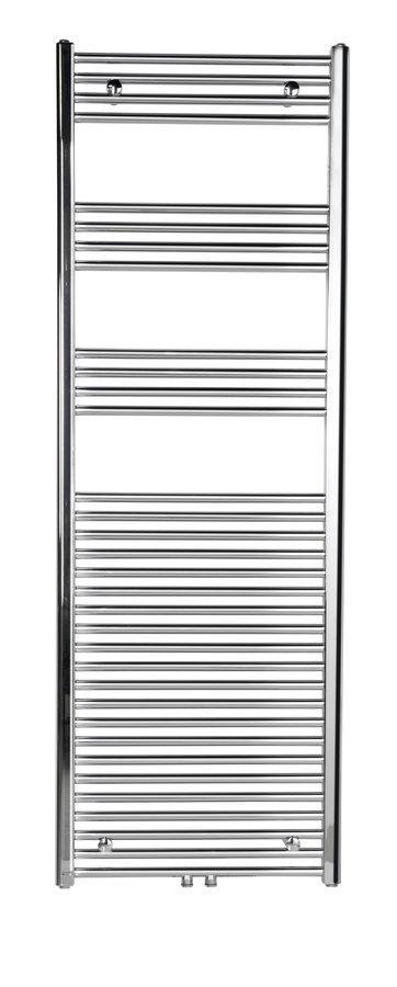 Sapho Ayla handdoekradiator 45x80 cm chroom midden/onderaansluiting