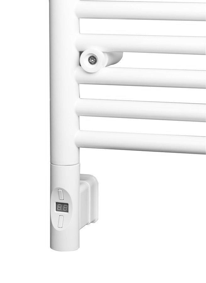 Elektrisch verwarmingselement, met thermostaat en afstandsbediening, 600W, rond, wit