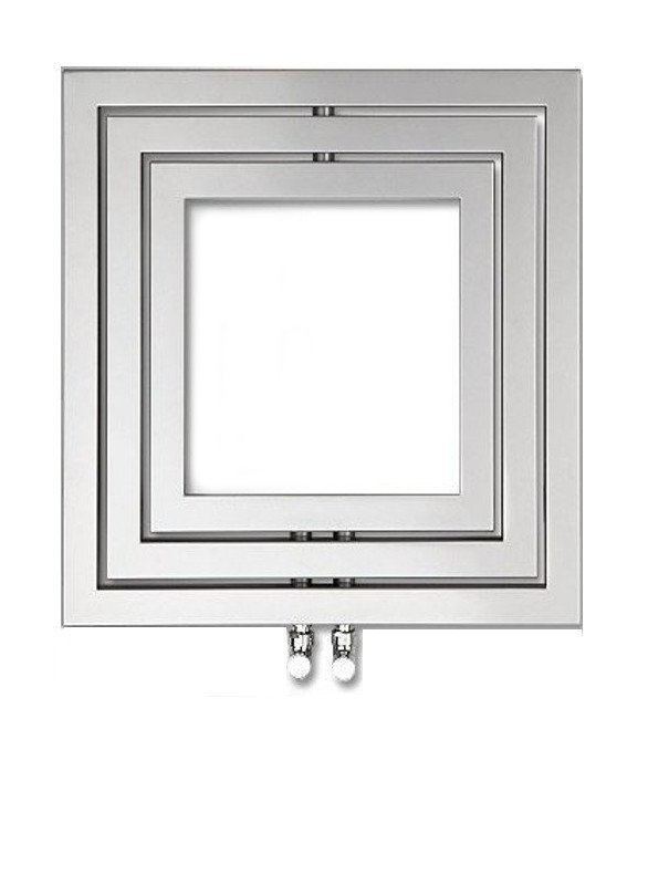 MONOPOLI Handdoekradiator 60x60 cm, 312W, zilver