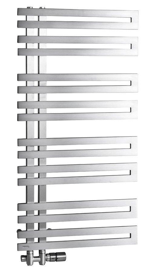 VOLGA handdoekradiator 308W, 50x97 cm, geborsteld roestvrij staal