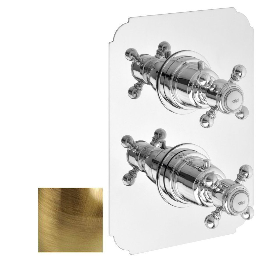 Productafbeelding van SASSARI Inbouw thermostatische douchemengkraan, 2 uitgangen, brons