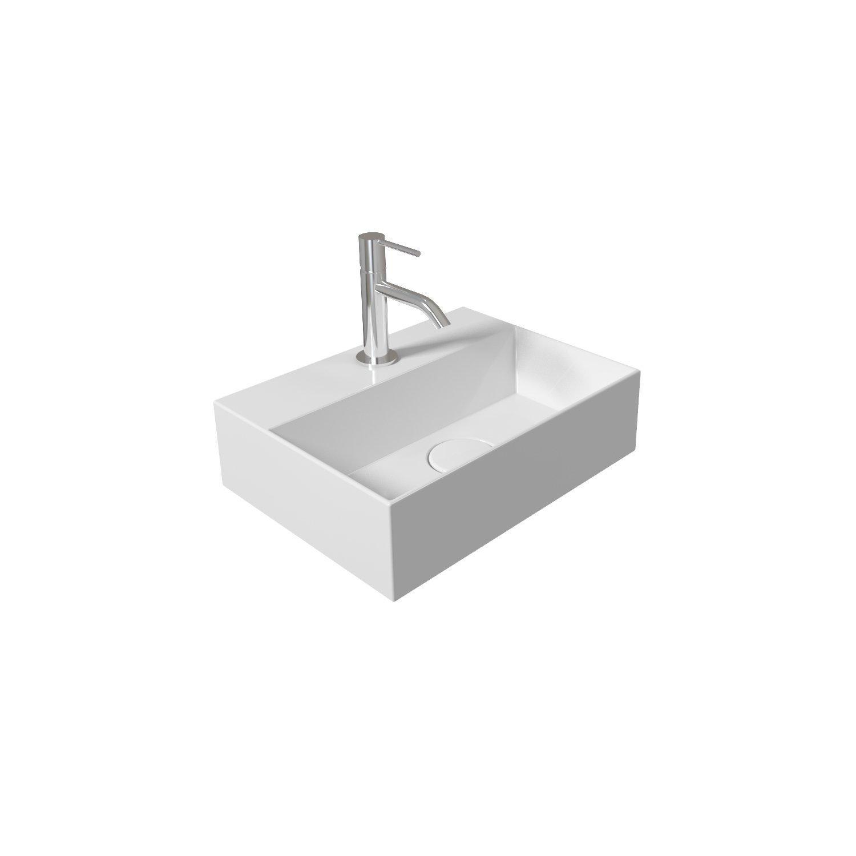 Salenzi Spy fontein 40x30 cm Glans Wit (incl. bijpassende clickwaste)