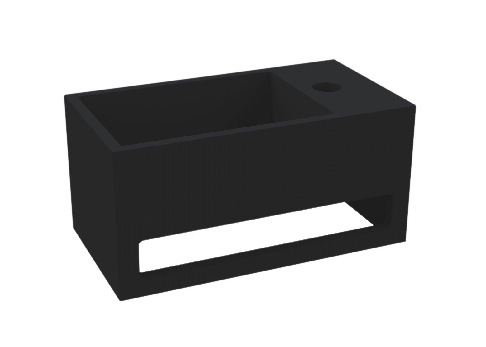 Best Design Mona fontein rechts met handdoekhouder Just solid mat zwart