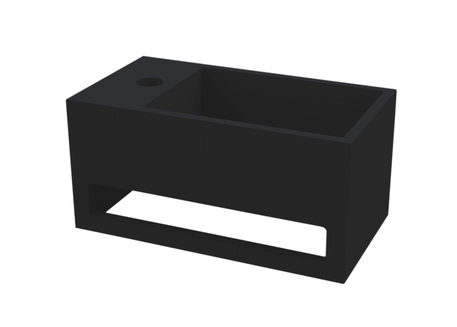 Best Design Mona fontein links met handdoekhouder Just solid mat zwart