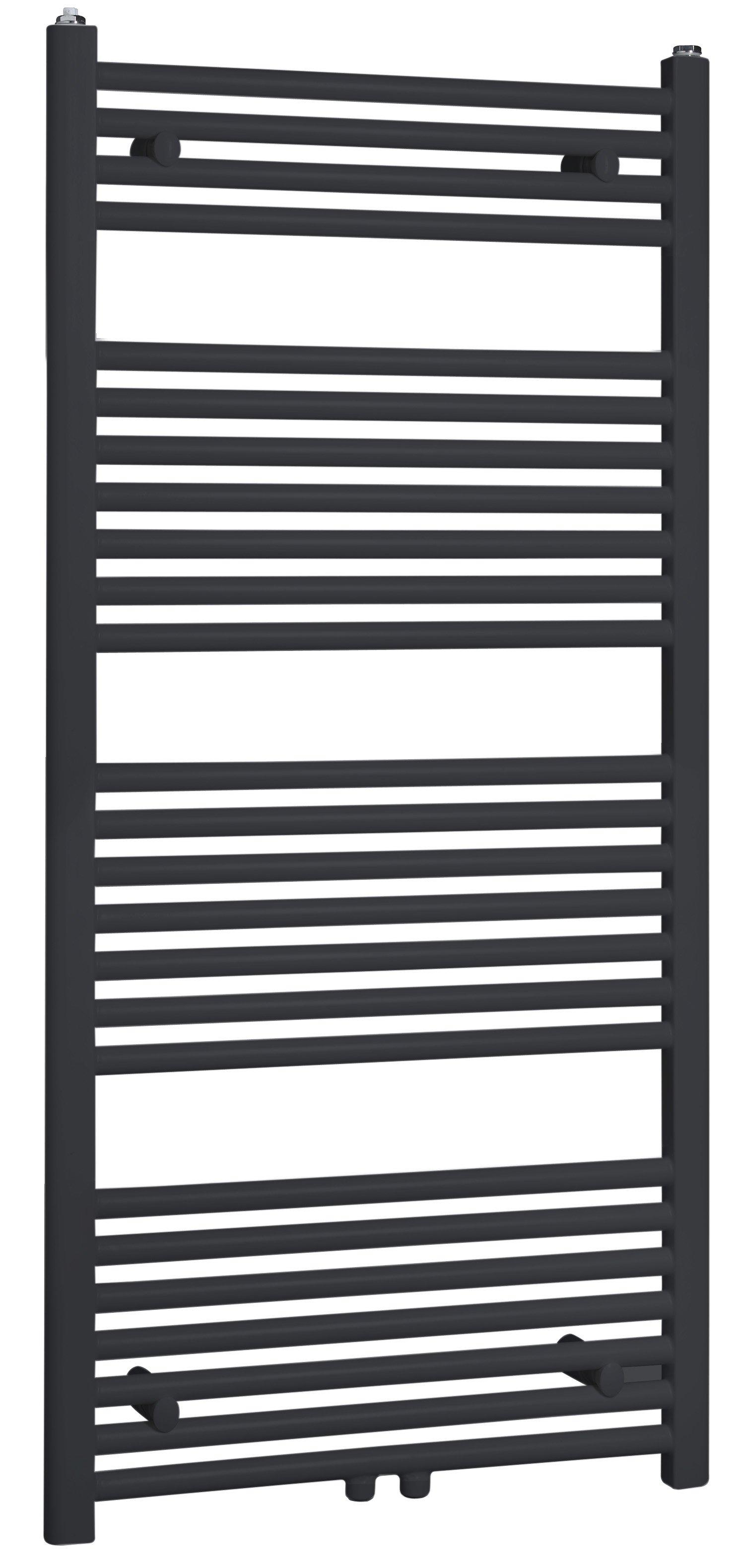 Best Design Zwoly designradiator recht model 120 x 60 cm zwart- ral 9011