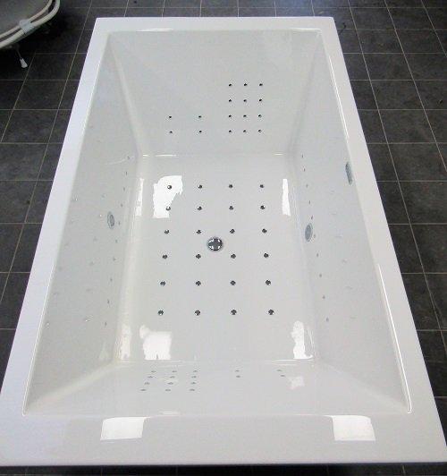 Productafbeelding van Happypool Poseidon bubbelbad Columbus systeem 200x120 wit