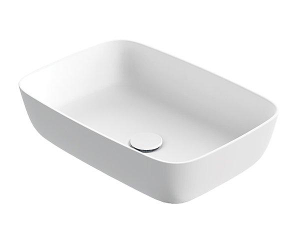 Xenz Neo-R waskom rechthoek solid surface mat wit