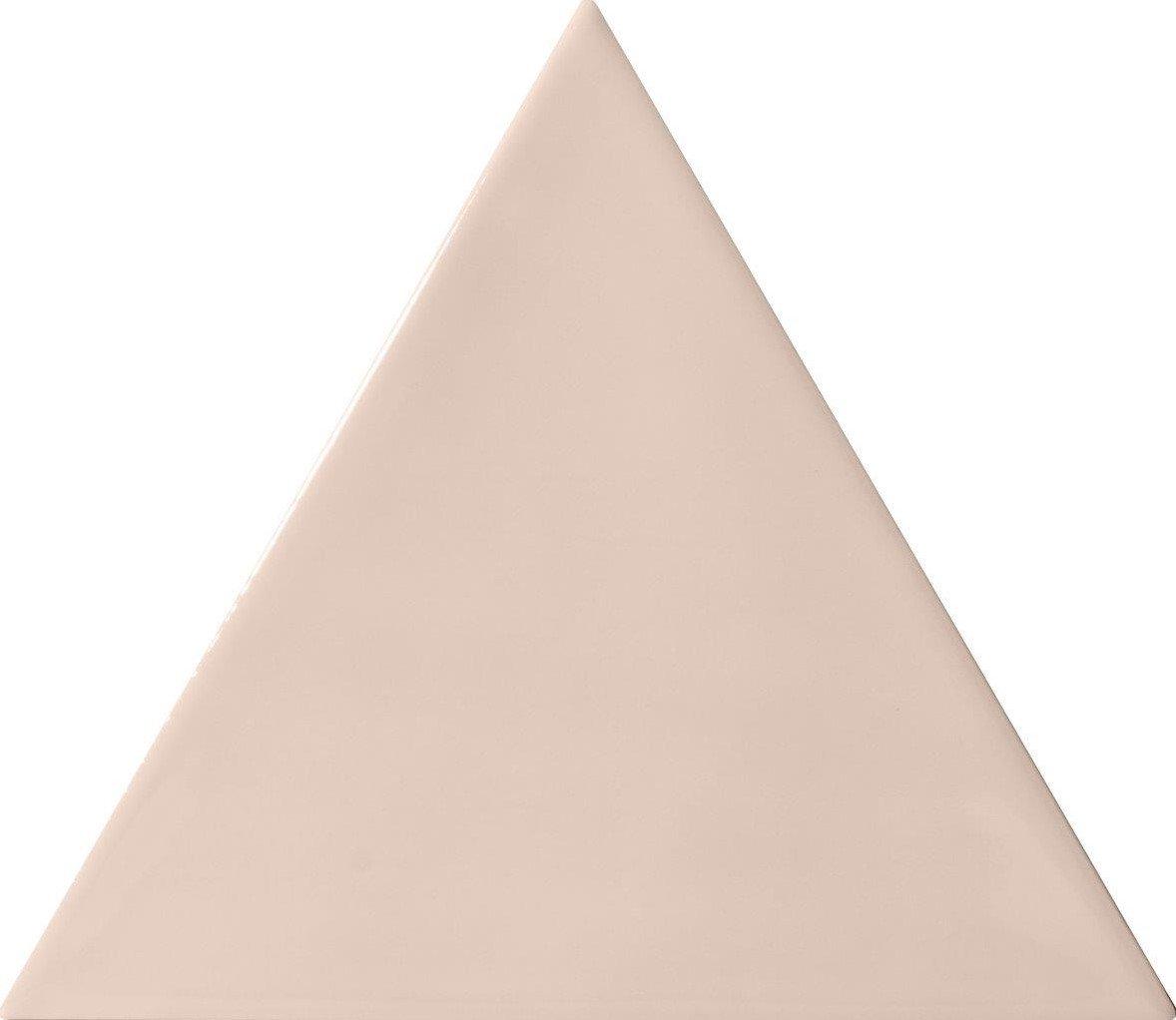 Quintessenza 3LATI driehoek tegel 13,2x11,4 Rosa Lucido