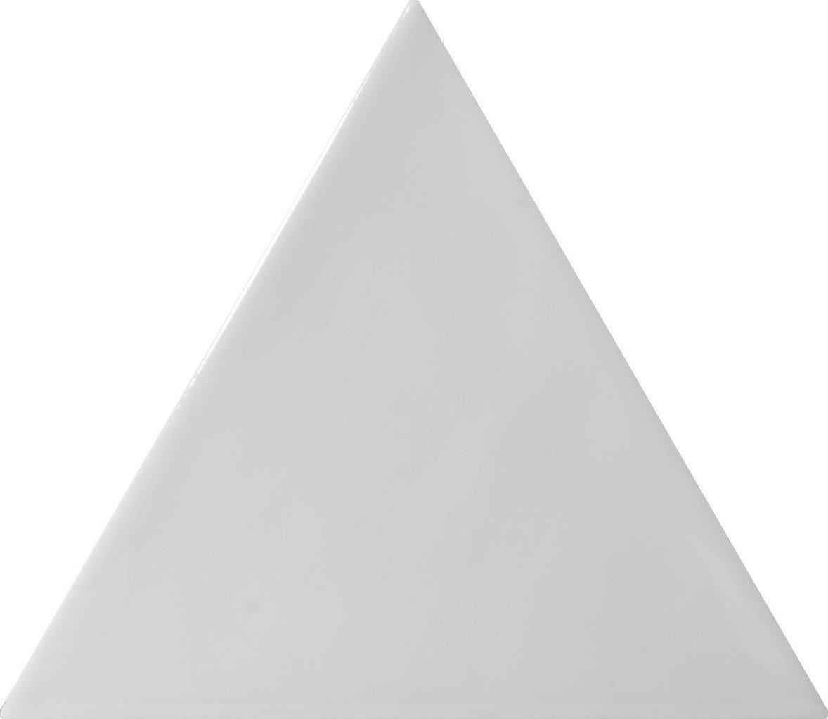 Quintessenza 3LATI driehoek tegel 13,2x11,4 Grigio Medio Lucido