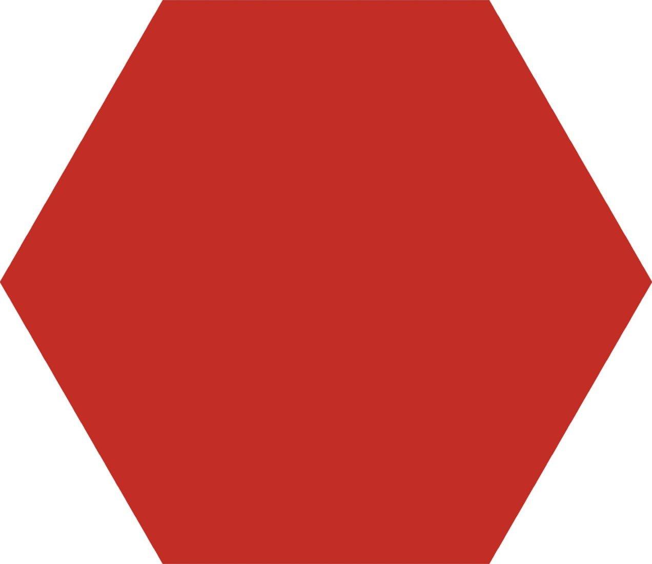 Codicer Hex25 Basic hexagon vloertegel 25x22 Rojo