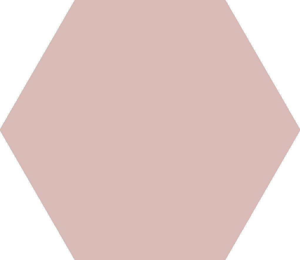 Codicer Hex25 Basic hexagon vloertegel 25x22 Rose